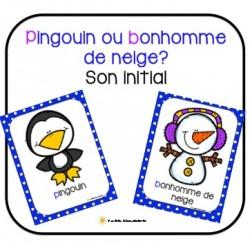 Pingouin ou bonhomme de neige? Son initial
