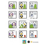 Tableau double entrée: personnages d'hiver