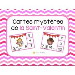 Cartes mystères  de la Saint-Valentin
