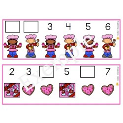 Les chiffres manquants- La Saint-Valentin