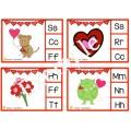Cartes à pinces  Son initial-La Saint-Valentin
