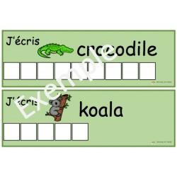 J'écris...  les animaux du zoo