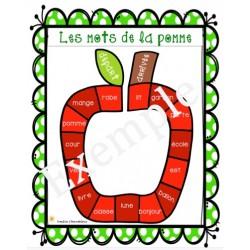 Les mots de la pomme
