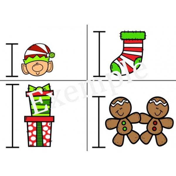 Je mesure Noël avec des cubes Unifix