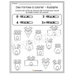 Des formes à colorier- Rudolphe