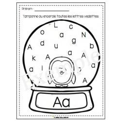 Tamponne l'alphabet