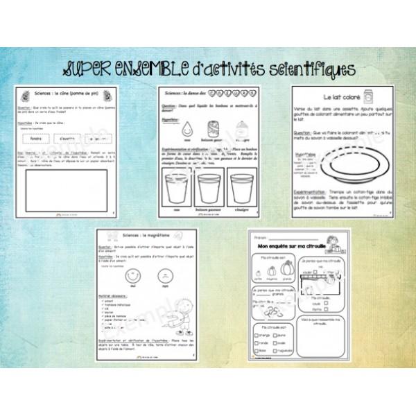 SUPER ENSEMBLE (#2) de 13 activités scientifiques
