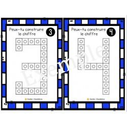 Construction de chiffres -Cubes Unifix