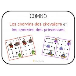 COMBO- Les chemins chevaliers et princesses