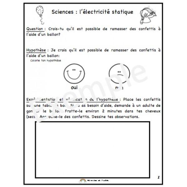Sciences: l'électricité statique