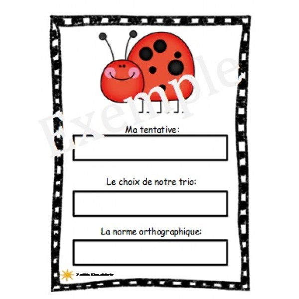 Orthographes approchées- insectes et bestioles