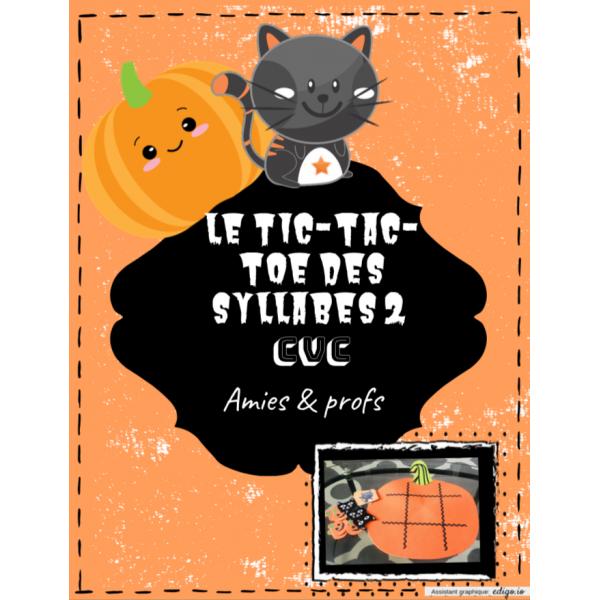 TIC-TAC-TOE des syllabes 2 (CVC)