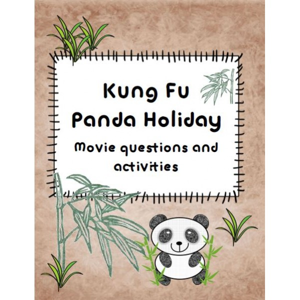 Kung Fu Panda Holiday Activities