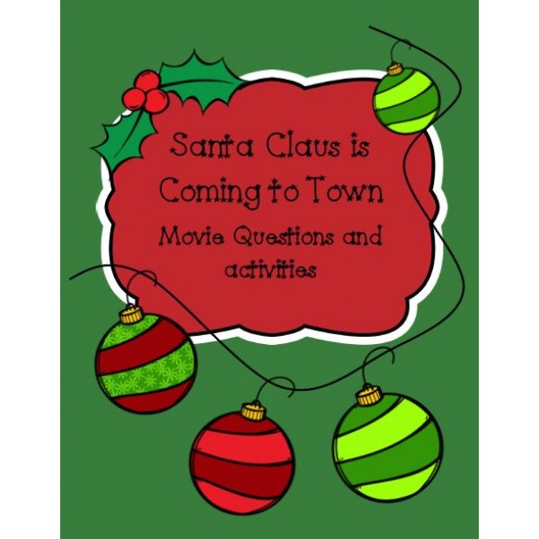 Santa Clause is Coming to Town Activities