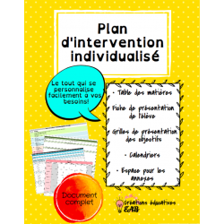 Plan d'intervention individualisé