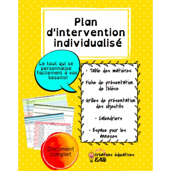 Plan d'intervention individualisé
