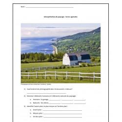 Interpréter un paysage agricole du Québec