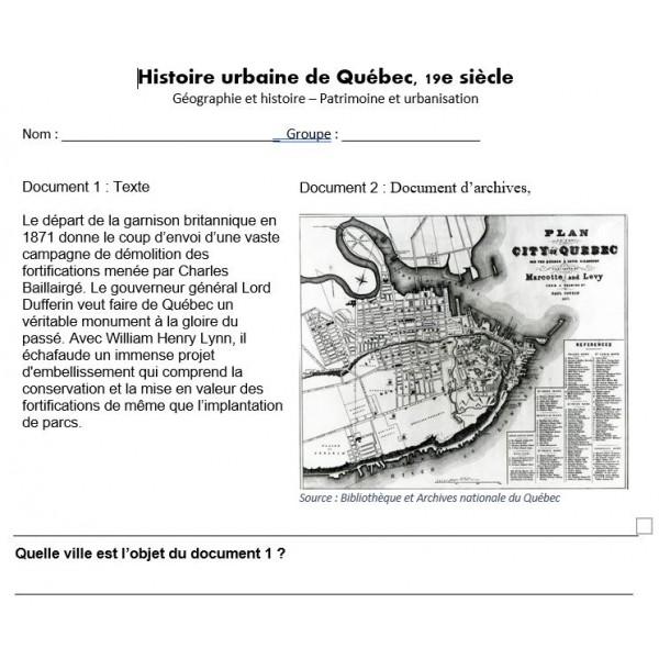 La mise en valeur des fortifications de Québec