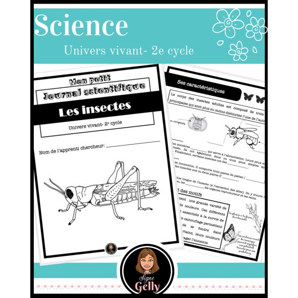 Mon petit journal scientifique- Les insectes