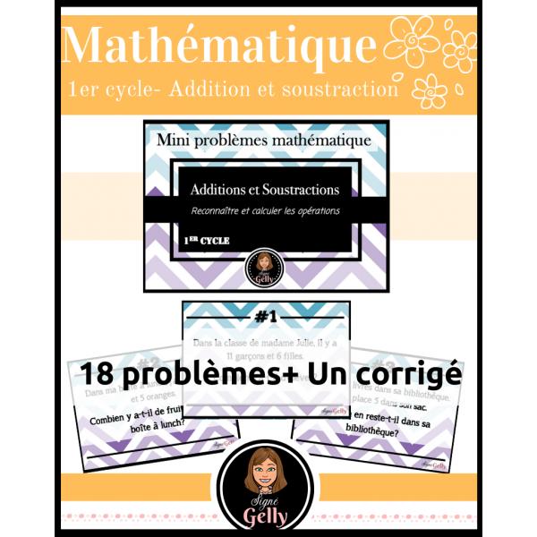 Mini-problèmes- Additions et soustractions