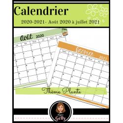 Calendrier 2020-2021- Plantes