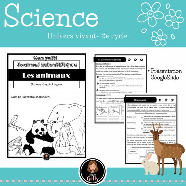 Mon petit journal scientifique- Les animaux