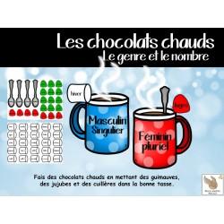 Le genre et le nombre - Les chocolats chauds