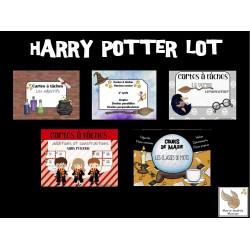 Cartes à tâches Harry Potter lot