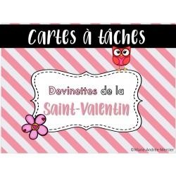 Inférences Saint-Valentin devinettes