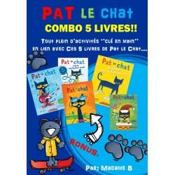 Pat le Chat: COMBO 5 livres