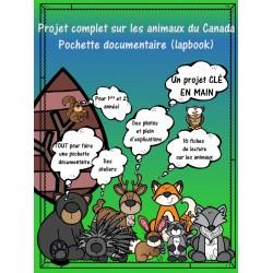Animaux du Canada, Lapbook