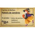 Cartes à tâche potions sorcière maths-3e