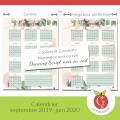 Calendrier septembre 2019 à juin 2020