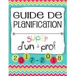 Planificateur Prof - 5 PÉR - 3AM2PM *2017-2018