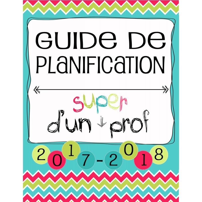 Planificateur prof 5 p r 3am2pm 2017 2018 for Planificateur en ligne gratuit