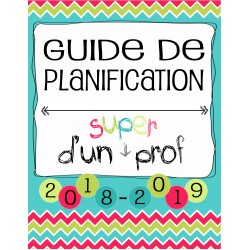 Planificateur Prof - 6 PÉR - 4AM2PM *2018-2019