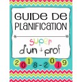 Planificateur Prof - 5 PÉR - 3AM2PM *2018-2019