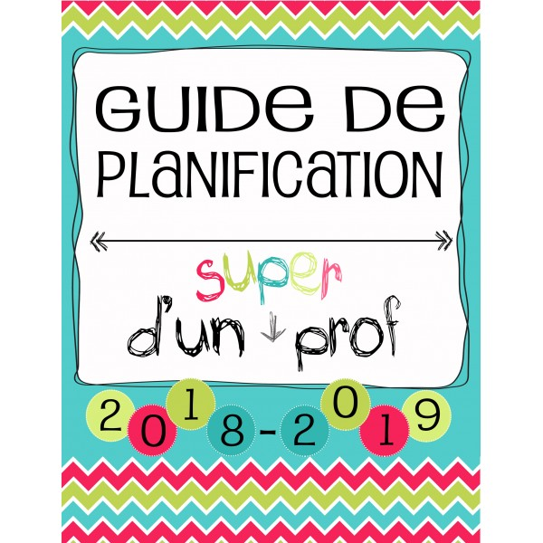Planificateur Prof - 4 PÉR - 2AM2PM *2018-2019