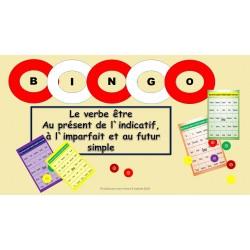Bingo du verbe être