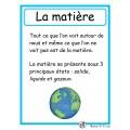 La matière et le cycle de l'eau