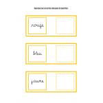 Les couleurs (écriture cursive)