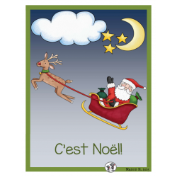 C'est Noël mathématique et français