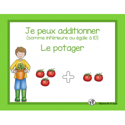 Initiation à l'addition (Dans le potager)