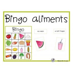Bingo des aliments
