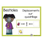 Déplacements sur quadrillage (bestioles)