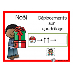 Déplacements sur quadrillage Noël