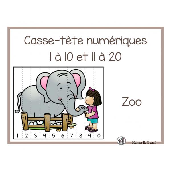 Casse-tête numériques Au zoo