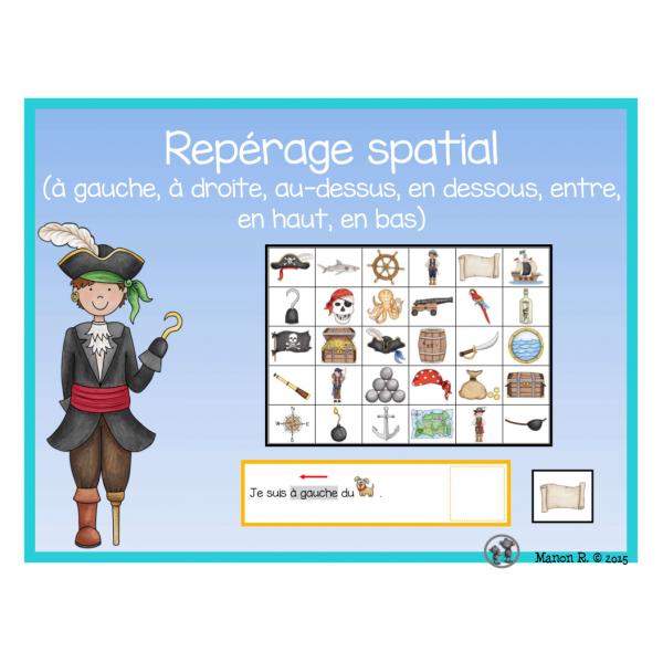 Repérage spatial (thème des pirates)
