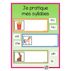 Je pratique mes syllabes