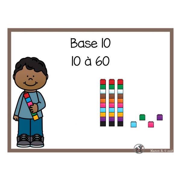 Base 10 (10 à 60)
